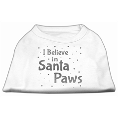 Mirage Pet Products Screenprint Santa Paws Pet Shirt White Sm (10)