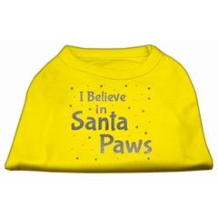 Mirage Pet Products Screenprint Santa Paws Pet Shirt Yellow XS (8)