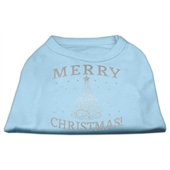 Mirage Pet Products Shimmer Christmas Tree Pet Shirt Baby Blue Med (12)
