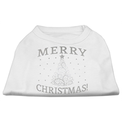 Mirage Pet Products Shimmer Christmas Tree Pet Shirt White XL (16)