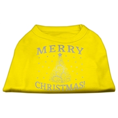 Mirage Pet Products Shimmer Christmas Tree Pet Shirt Yellow XL (16)
