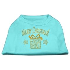 Mirage Pet Products Golden Christmas Present Dog Shirt Aqua XXXL (20)
