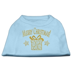 Mirage Pet Products Golden Christmas Present Dog Shirt Baby Blue XS (8)