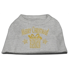 Mirage Pet Products Golden Christmas Present Dog Shirt Grey Lg (14)