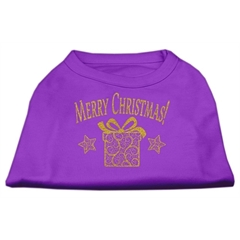 Mirage Pet Products Golden Christmas Present Dog Shirt Purple XXXL (20)