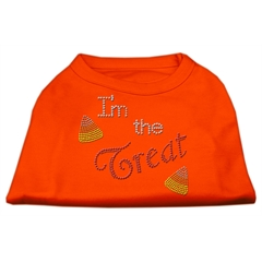 Mirage Pet Products I'm the Treat Rhinestone Dog Shirt Orange XXXL (20)