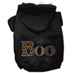 Mirage Pet Products Boo Rhinestone Hoodies Black XS (8)