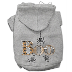 Mirage Pet Products Boo Rhinestone Hoodies Grey XL (16)