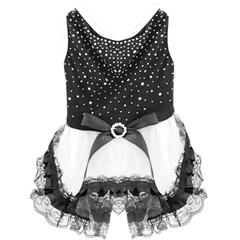 Mirage Pet Products Premium Rhinestone Dress Large Black