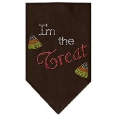 Mirage Pet Products I'm the Treat Rhinestone Bandana Brown Small