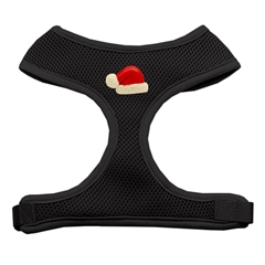 Mirage Pet Products Santa Hat Chipper Black Harness Medium