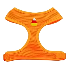 Mirage Pet Products Candy Corn Chipper Orange Harness Large