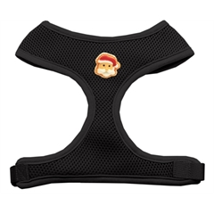 Mirage Pet Products Santa Face Chipper Black Harness Medium