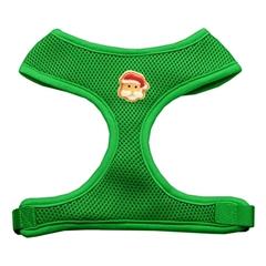 Mirage Pet Products Santa Face Chipper Emerald Harness Medium
