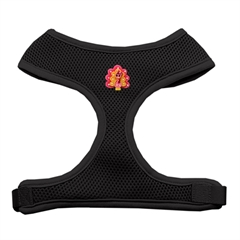 Mirage Pet Products Pink Turkey Chipper Black Harness Medium