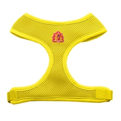 Mirage Pet Products Pink Turkey Chipper Yellow Harness Medium