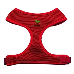 Mirage Pet Products Red Cherry Chipper Red Harness Medium