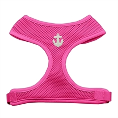 Mirage Pet Products White Anchors Chipper Pink Harness Large