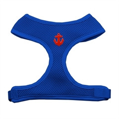 Mirage Pet Products Red Anchors Chipper Blue Harness Medium