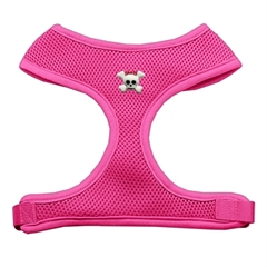 Mirage Pet Products Girly Skull Chipper Pink Harness Medium