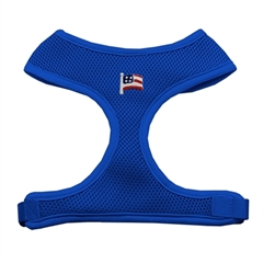 Mirage Pet Products American Flag Chipper Blue Harness Large