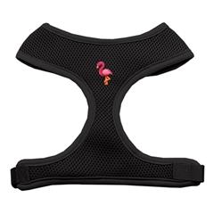Mirage Pet Products Pink Flamingo Chipper Black Harness Medium