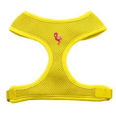 Mirage Pet Products Pink Flamingo Chipper Yellow Harness Large