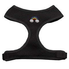 Mirage Pet Products Rainbow Chipper Black Harness Medium