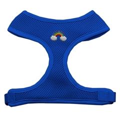 Mirage Pet Products Rainbow Chipper Blue Harness Medium