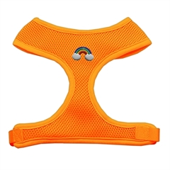 Mirage Pet Products Rainbow Chipper Orange Harness Small