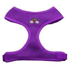 Mirage Pet Products Rainbow Chipper Purple Harness Medium