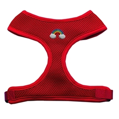 Mirage Pet Products Rainbow Chipper Red Harness Large