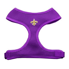 Mirage Pet Products Gold Fleur de Lis Chipper Purple Harness Small