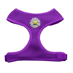 Mirage Pet Products White Daisies Chipper Purple Harness Medium