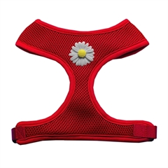 Mirage Pet Products White Daisies Chipper Red Harness Large