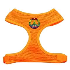 Mirage Pet Products Rainbow Peace Sign Chipper Orange Harness Medium