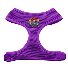 Mirage Pet Products Rainbow Peace Sign Chipper Purple Harness Medium