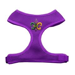 Mirage Pet Products Mardi Gras Fleur de Lis Chipper Purple Harness Large