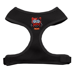 Mirage Pet Products Patriotic Owls Chipper Black Harness Large