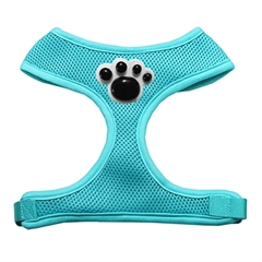 Mirage Pet Products Black Paws Chipper Aqua Harness Small