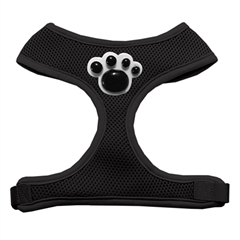 Mirage Pet Products Black Paws Chipper Black Harness Small