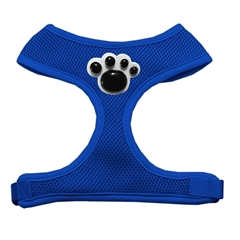 Mirage Pet Products Black Paws Chipper Blue Harness Small
