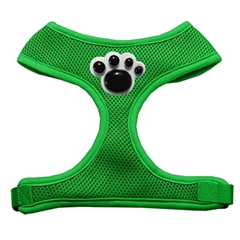 Mirage Pet Products Black Paws Chipper Emerald Harness Small