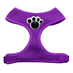 Mirage Pet Products Black Paws Chipper Purple Harness Small