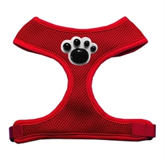 Mirage Pet Products Black Paws Chipper Red Harness Large