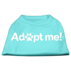 Mirage Pet Products Adopt Me Screen Print Shirt Aqua XXXL (20)