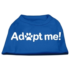 Mirage Pet Products Adopt Me Screen Print Shirt Blue XS (8)