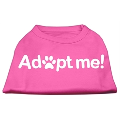 Mirage Pet Products Adopt Me Screen Print Shirt Bright Pink Med (12)