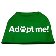 Mirage Pet Products Adopt Me Screen Print Shirt Green XS (8)