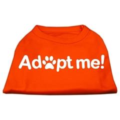 Mirage Pet Products Adopt Me Screen Print Shirt Orange Lg (14)